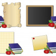 School icons - Stock Photo