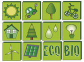 Ecology icons — Stock Photo