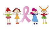 Breast Cancer Pink Ribbon — Stock Photo