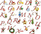 Alphabet christmas — Stock Photo