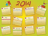 Kalendář 2014 — Stock fotografie