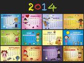 Calendário 2014 — Fotografia Stock