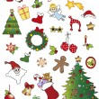 Christmas icons — Foto de Stock