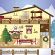 Christmas home — Stock Photo