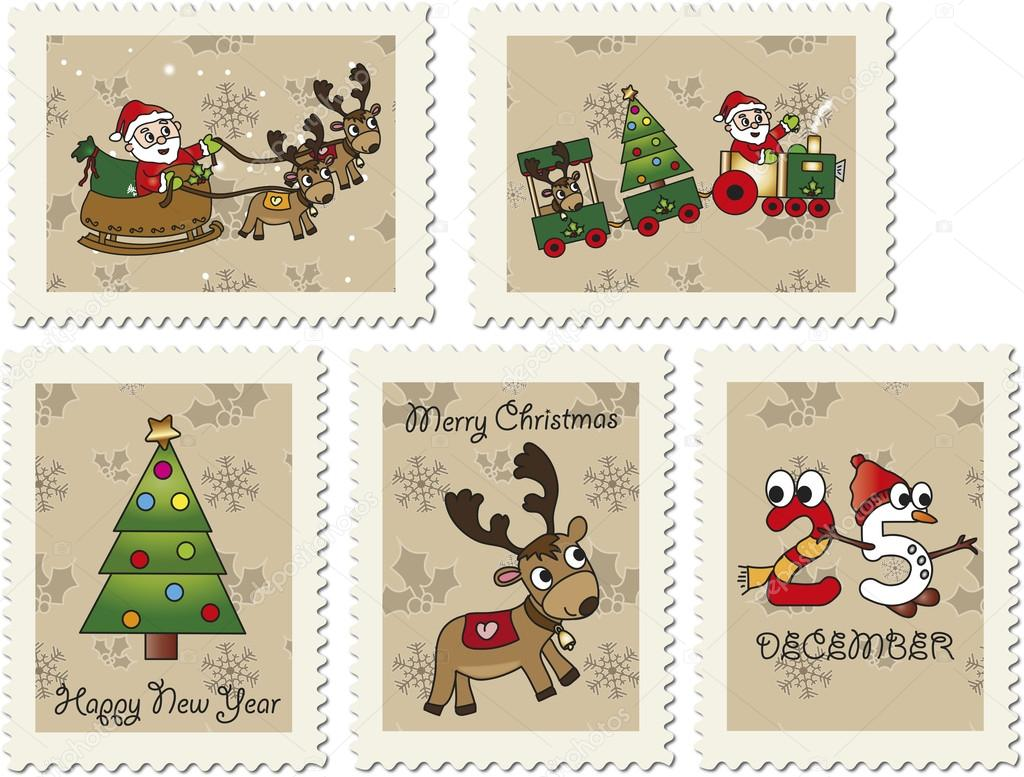 Santa Claus Stamp Stamps with santa claus