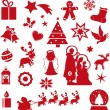 Boże Narodzenie ikony — Zdjęcie stockowe