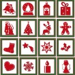 christmas icons — Stock Photo