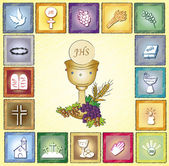 Religion card — Stock Photo