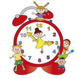 Watch with children — Stock Photo