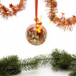 Christmas ball with loop — Foto de Stock
