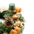 Stock Photo: Christmas flower arrangement