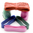 Coloured wrapping tape - Stock Photo