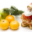 Santa Claus with apples - Stock Photo