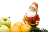 Santa Claus with apples — Stock Photo