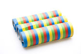 Coloured streamers — Stockfoto