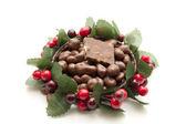 Chocolate raisins with nutchocolate — Stock Photo