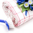Clean up with Brush and Cloth — Stock Photo