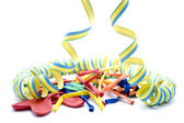Coloured streamers — Stock Photo