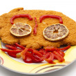 Cutlet with pepper — Stock Photo