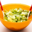 Iceberg salad in Bowl — Stock Photo #14629359