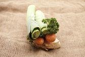 Verdura fresca zuppa — Foto Stock