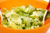 Iceberg salad in Bowl — Stock Photo