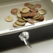 Cash box for money — Stock Photo