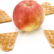 Fresh Apple with waffle — Stock Photo