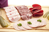Cold Cuts Plate — Stock Photo