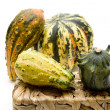 Decorate pumpkin — Stock Photo