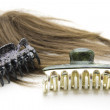 Hair clip with headdress — Stock Photo