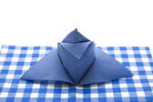 Folded table napkin — Stock Photo