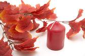 Wax candle — Stock Photo