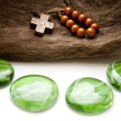 Stock Photo: Green stones with Chaplet