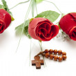 Stock Photo: Red roses with Chaplet