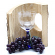 Wine grapes with wineglass — Stock Photo #15390611
