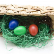 Easter eggs in the basket — Stock Photo #15775291