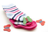 Warm baby socks — Stock Photo
