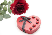 Heart box with beetle — Stock Photo