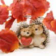 Hedgehog with heart — Stock Photo