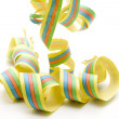 Stock Photo: Coloured streamers