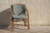 Old rattan armchairs — Stock Photo
