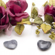 Heart stones with garland - Stock fotografie