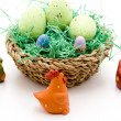Easter eggs in the basket — Stock Photo #17173351