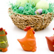 Easter eggs in the basket — Stock Photo #17173369