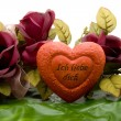Love heart with roses — Stock Photo