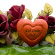 Love heart with roses — Stock Photo #17173533
