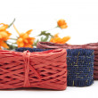 Stock Photo: Wrapping tape with flowers