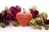 Heart with rose garland — Stock Photo