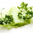 图库照片: Iceberg salad with parsley